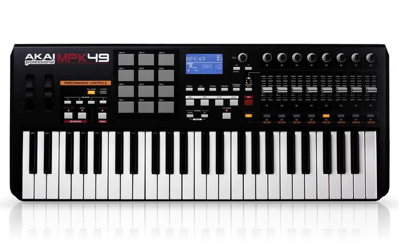 Akai MPK49 49 Key Keyboard USB Midi Controller - PSSL ProSound and Stage Lighting