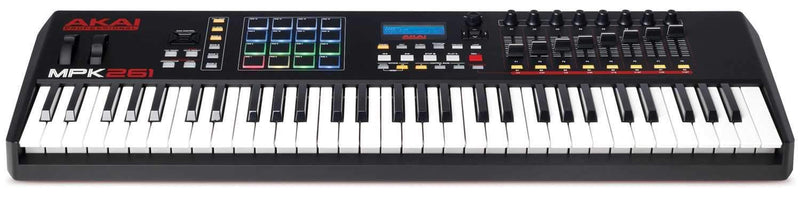 Akai MPK261 USB MIDI Keyboard Controller with Pads - PSSL ProSound and Stage Lighting