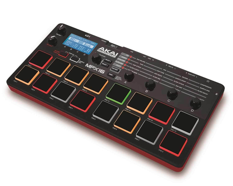 AKAI MPX 16 Sampler & USB MIDI Pad Controller - PSSL ProSound and Stage Lighting