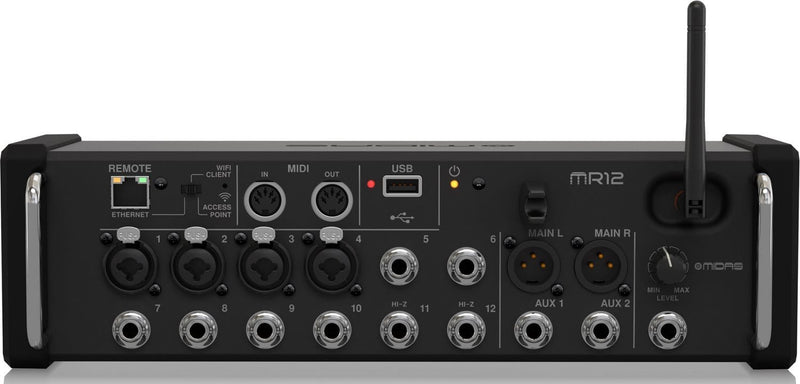Midas MR12 12-Input Digital Mixer for iPad/Android Tablets - PSSL ProSound and Stage Lighting