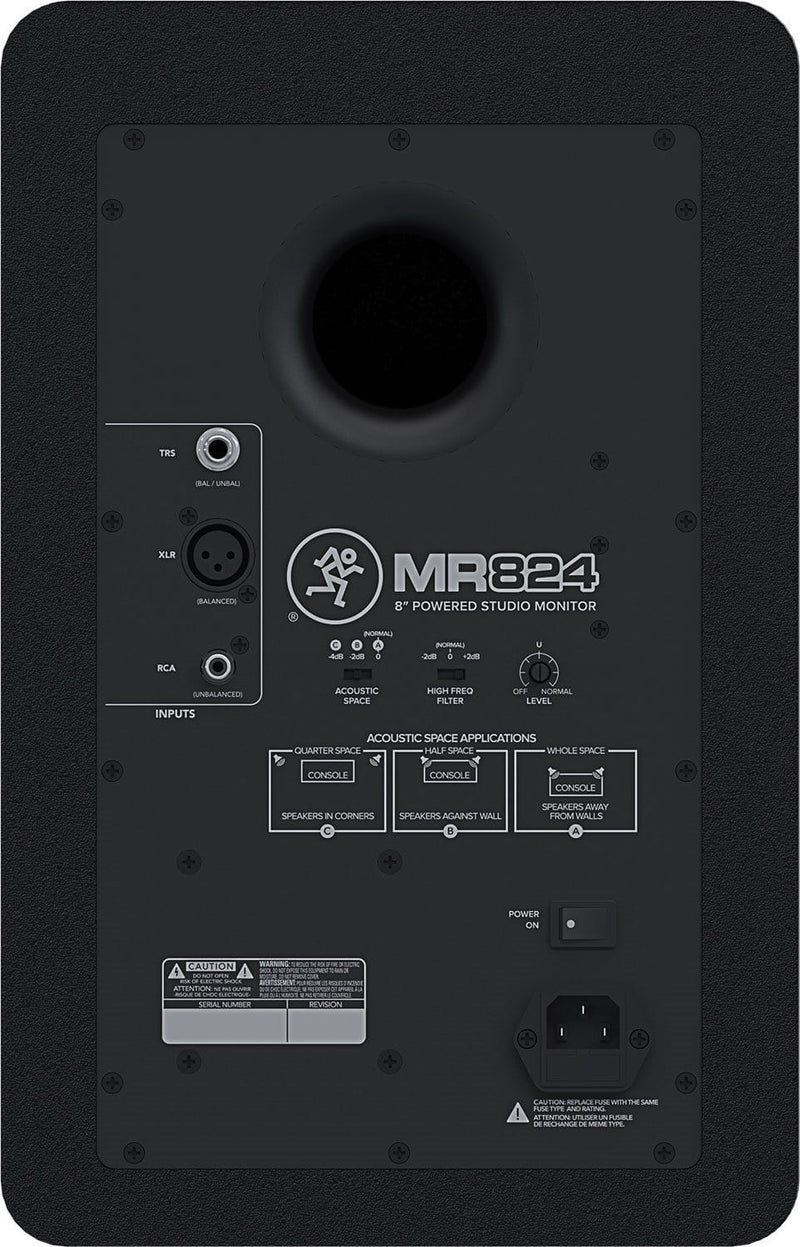 Mackie MR824 8-Inch Powered Studio Monitor - PSSL ProSound and Stage Lighting