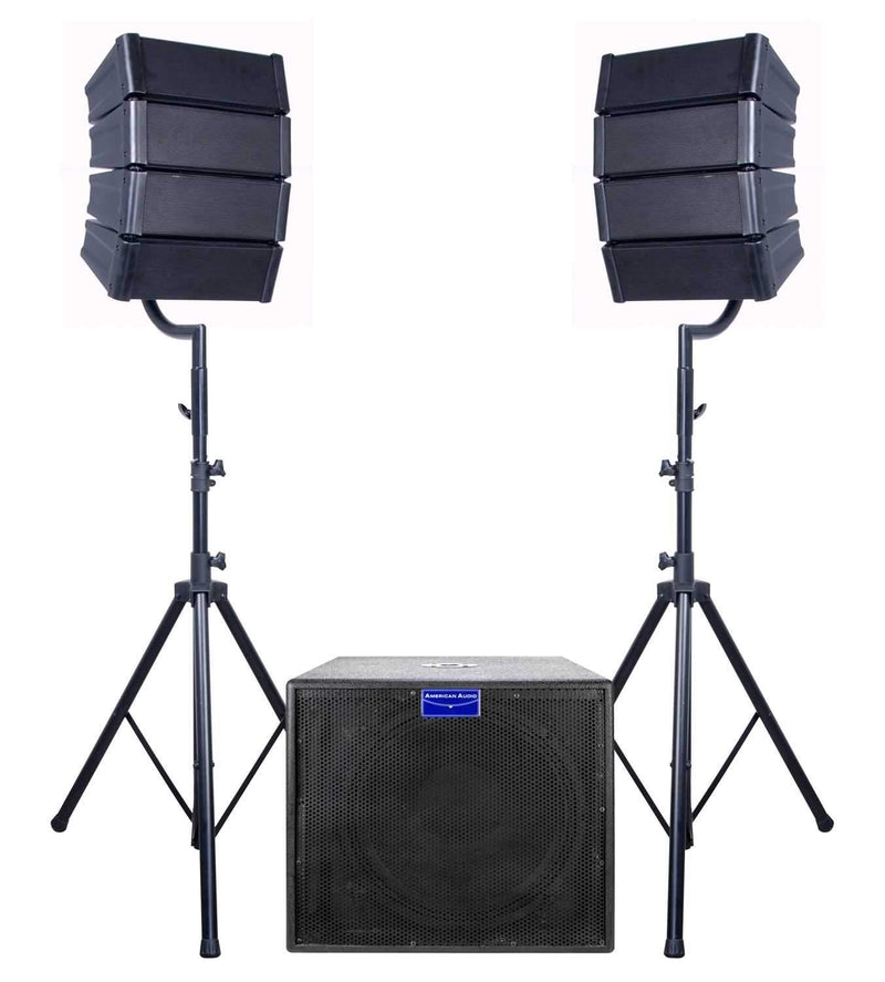 American Audio MRAY4 Line Array PA Package - PSSL ProSound and Stage Lighting