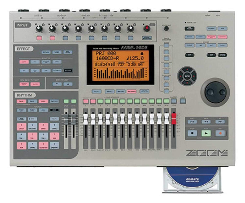 Zoom MRS1608 Multitrack Digital Recorder With CD - PSSL ProSound and Stage Lighting