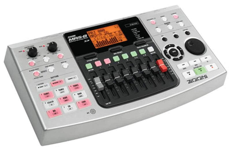 ZOOM MRS8 8-TRACK RECORDER with DRUM MACHINE - PSSL ProSound and Stage Lighting