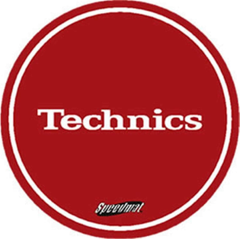 Technics Speed Slipmat In Red - Pair - PSSL ProSound and Stage Lighting