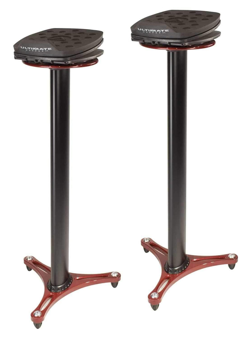 Ultimate MS100R Studio Monitor Stand (Red) Pair - PSSL ProSound and Stage Lighting