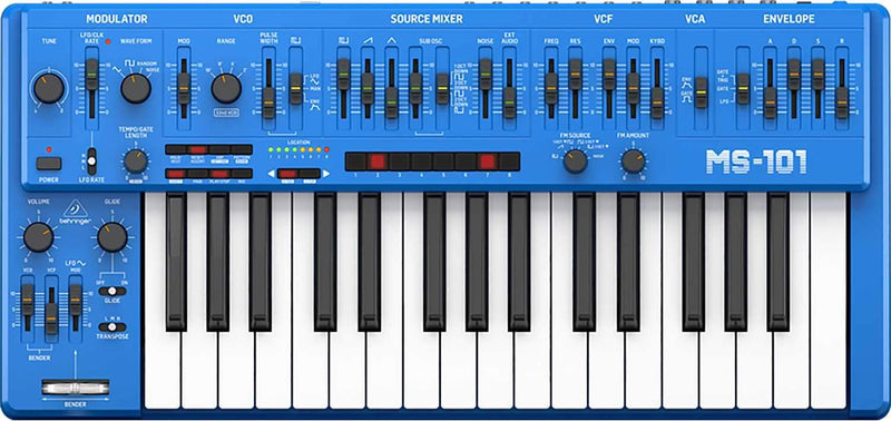 Behringer MS-101-BU 32 Key Analog Synthesizer - PSSL ProSound and Stage Lighting