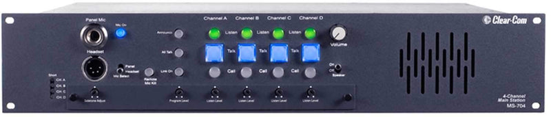 Clear-Com MS-704 4-Channel Intercom Main Station - PSSL ProSound and Stage Lighting