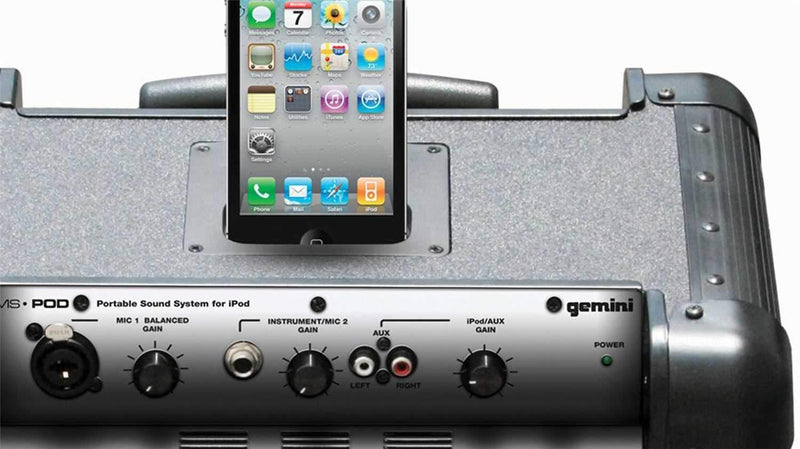 Gemini MS-POD -Mobile PA System For iPod/iPhone - PSSL ProSound and Stage Lighting