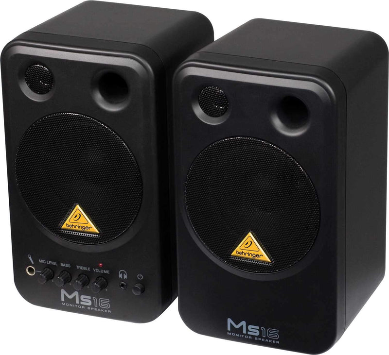 Behringer MS16 Powered Studio Desktop Monitors - PSSL ProSound and Stage Lighting