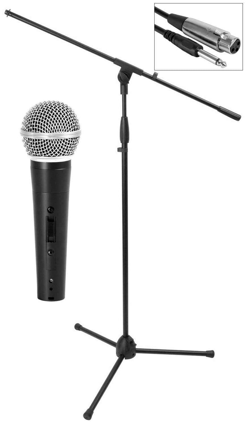 On-Stage MS7500 Mic Stand Pak with Handheld Mic - PSSL ProSound and Stage Lighting