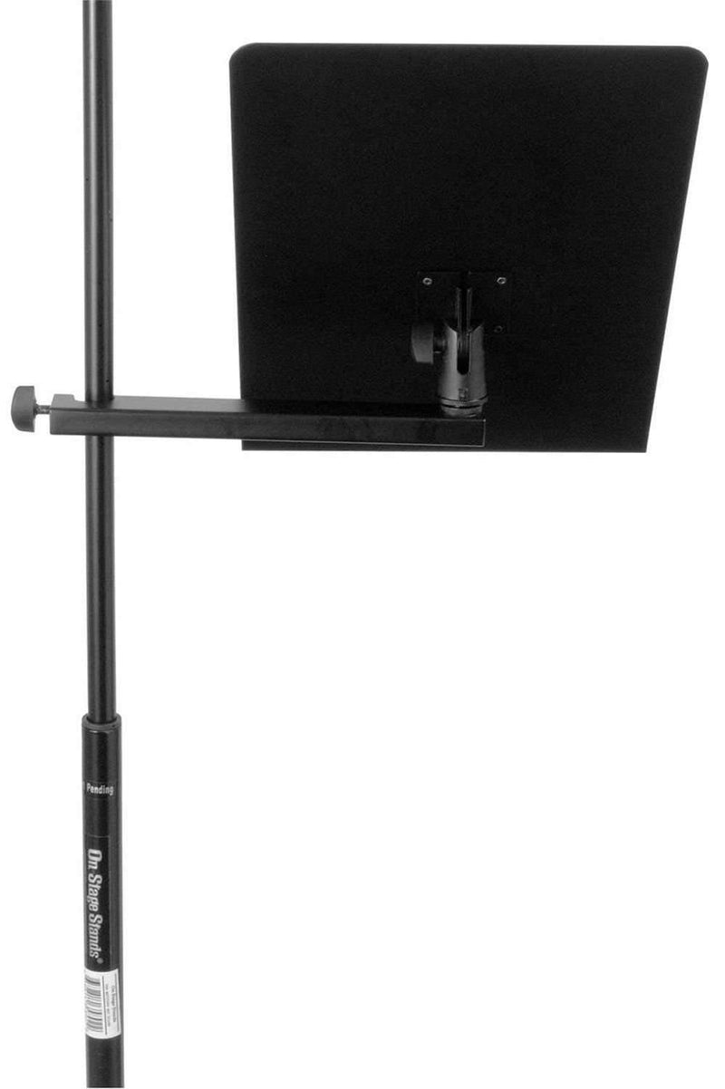 On-Stage MSA7011 Music Stand Bookplate with Clamp - PSSL ProSound and Stage Lighting