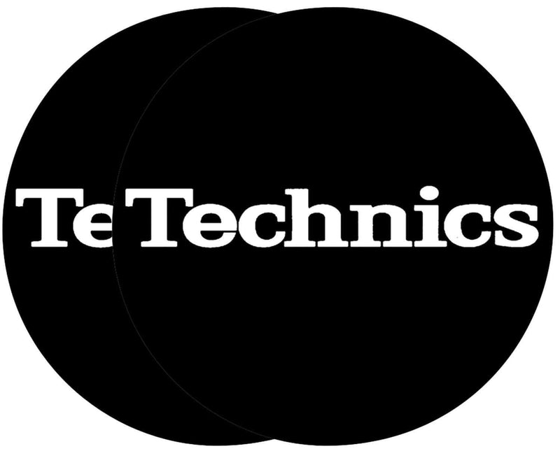 Technics MTC Slipmat Black with White Logo- Pair - PSSL ProSound and Stage Lighting