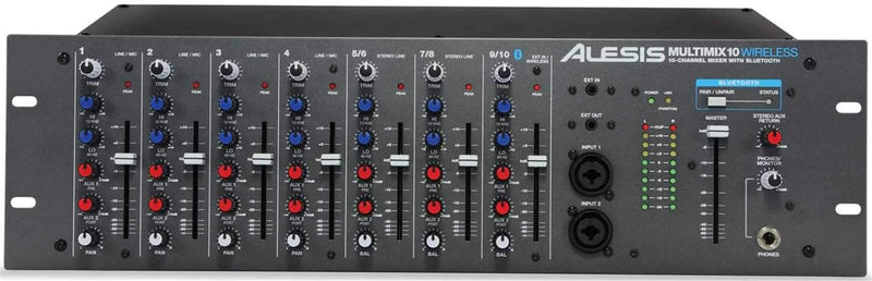 Alesis MULTIMIX 10 Wireless 10-Ch Rackmount Mixer - PSSL ProSound and Stage Lighting