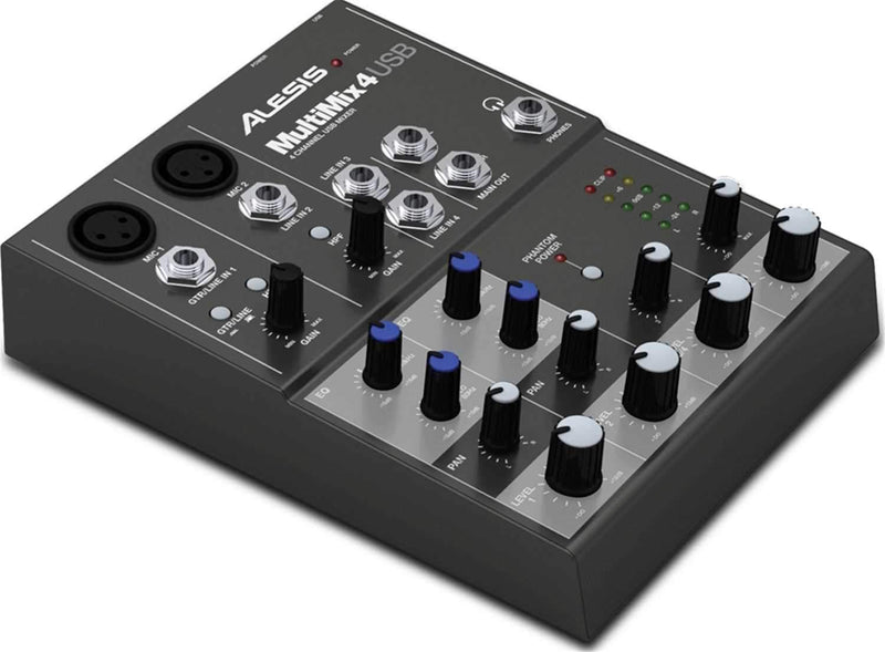 Alesis MULTIMIX 4 USB 4-Channel Compact PA Mixer - PSSL ProSound and Stage Lighting