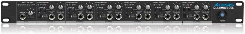 Alesis MultiMix-6-Cue 6 Ch. Headphone Amplifier - PSSL ProSound and Stage Lighting