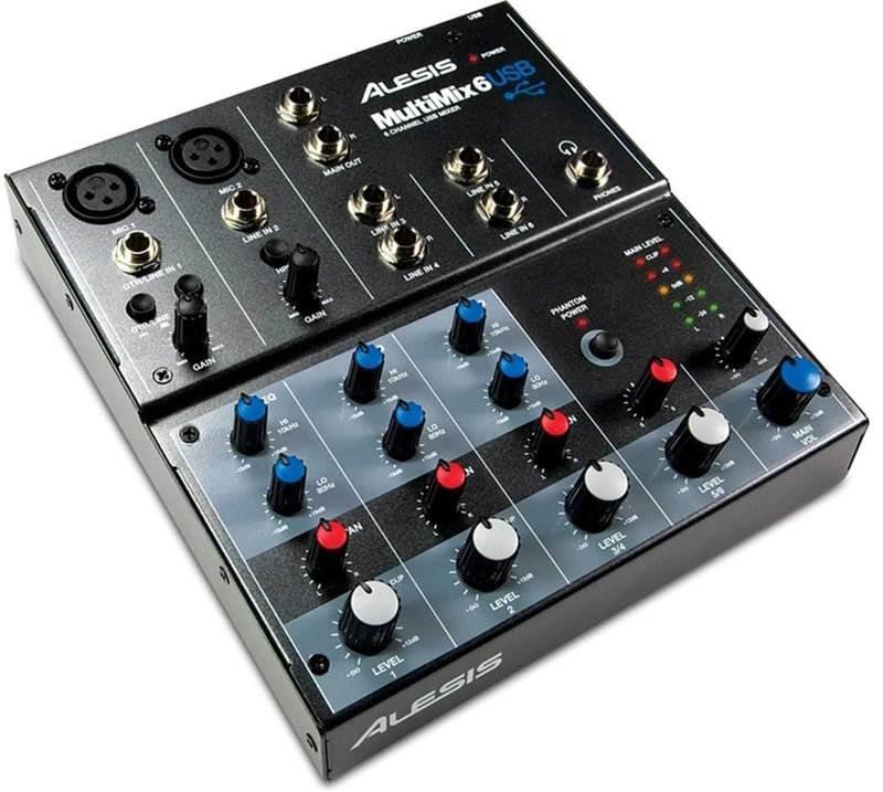 Alesis Multimix-6USB 6 Channel USB Mixer - PSSL ProSound and Stage Lighting