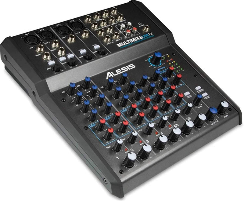 Alesis MultiMix-8-USB-FX 8 CH Mixer with Effects/USB - PSSL ProSound and Stage Lighting
