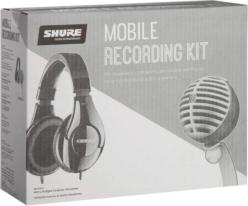 Shure MV5/A-240 BNDL Mobile Recording Kit - PSSL ProSound and Stage Lighting