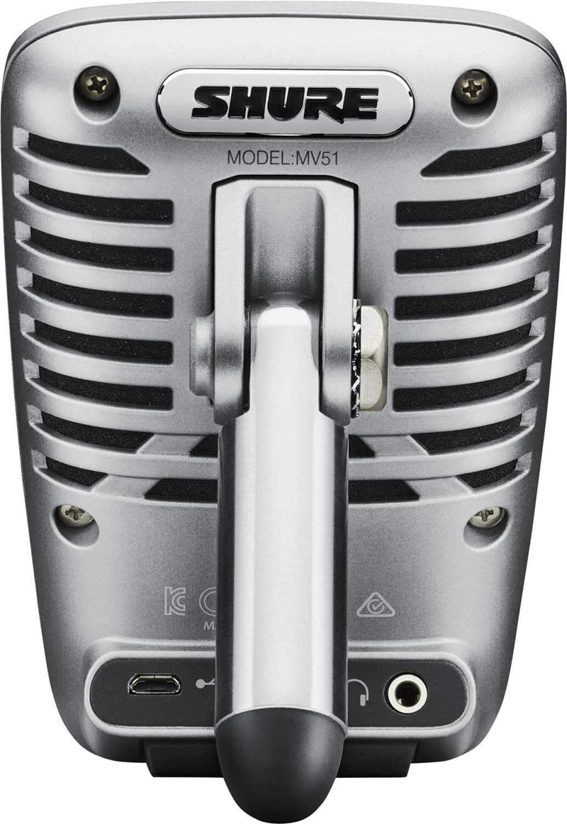 Shure Motiv MV51 Large-Diaphragm Condenser Mic - PSSL ProSound and Stage Lighting
