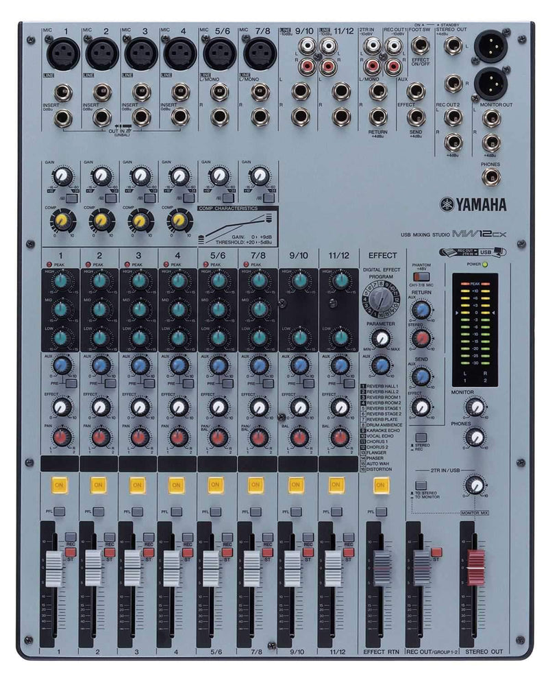 Yamaha MW12CX 12 Ch Mixer With USB & Cubase AI4 - PSSL ProSound and Stage Lighting