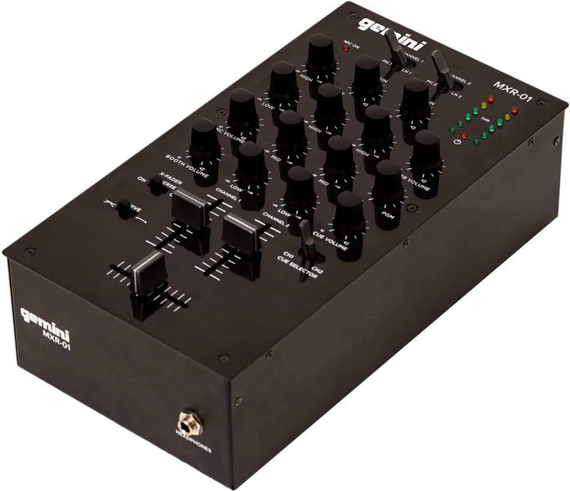 Gemini MXR-01 2-Channel DJ Mixer - PSSL ProSound and Stage Lighting