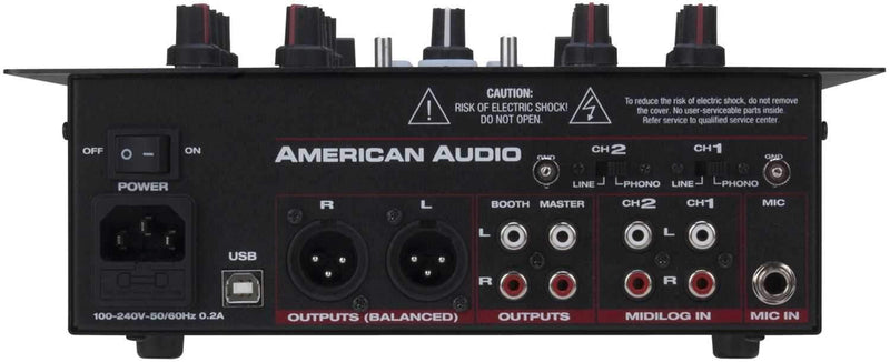 American Audio 10 MXR 10 in 2 Ch DJ Scratch Mixer - PSSL ProSound and Stage Lighting