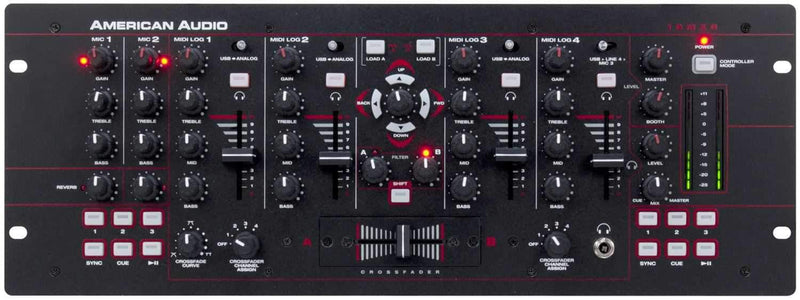 American Audio 19 MXR 4-Channel DJ Mixer & Controller - PSSL ProSound and Stage Lighting