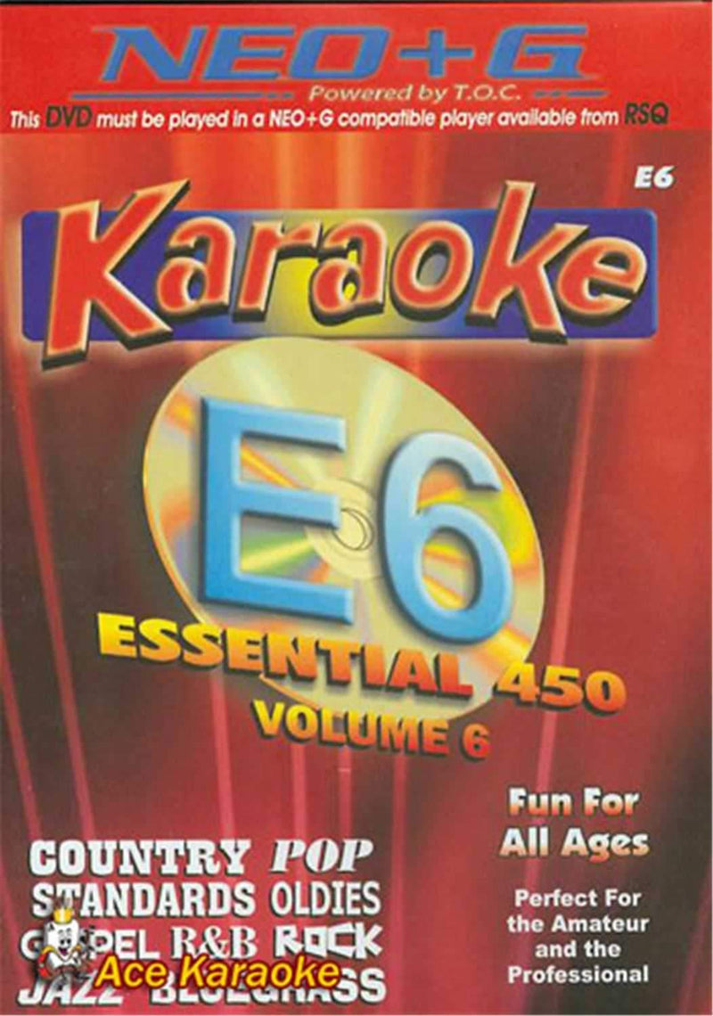 Chartbuster 450 Essential Karaoke Hits Vol-6 (Neo) - PSSL ProSound and Stage Lighting