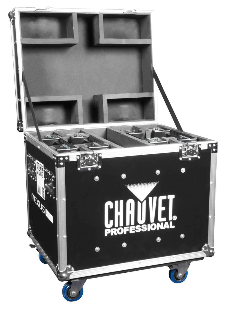 Chauvet Nexus 7x7 LED Panel 4 Pack with Road Case - PSSL ProSound and Stage Lighting