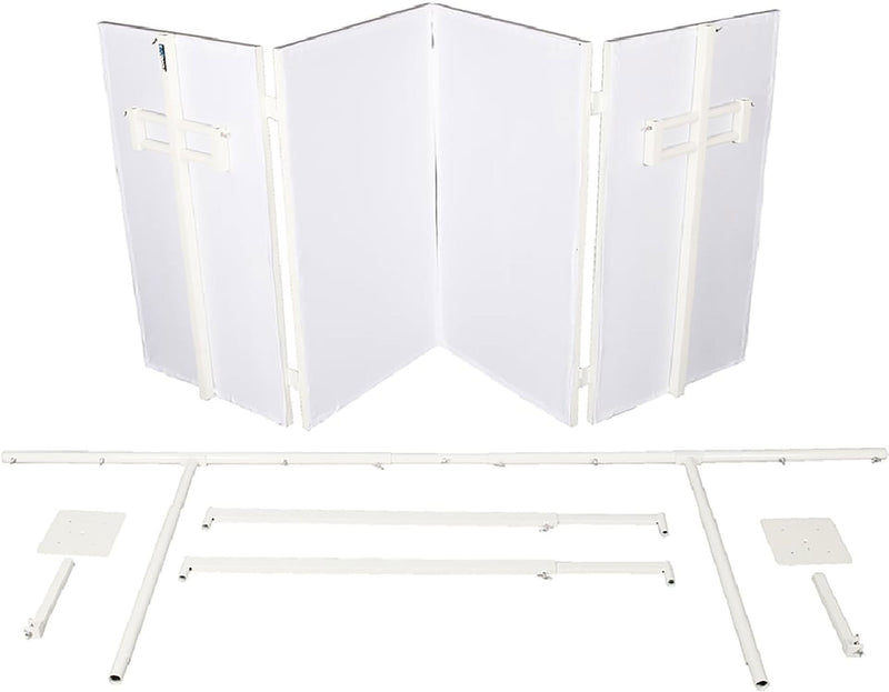 Novopro SDXBOOTHWHT SDX V2 White Foldable DJ Boo - PSSL ProSound and Stage Lighting