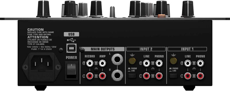 Behringer NOX202 2 Channel DJ Mixer with USB - PSSL ProSound and Stage Lighting