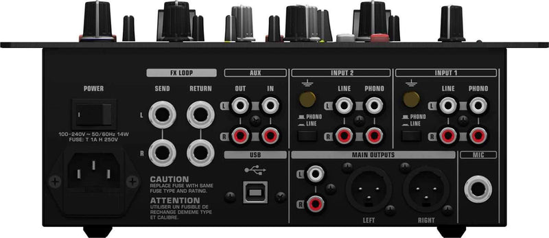 Behringer NOX404 2-Channel Scratch DJ Mixer with FX - PSSL ProSound and Stage Lighting