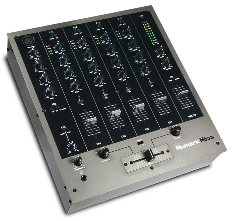Numark M6 USB 4-Channel DJ Mixer - PSSL ProSound and Stage Lighting