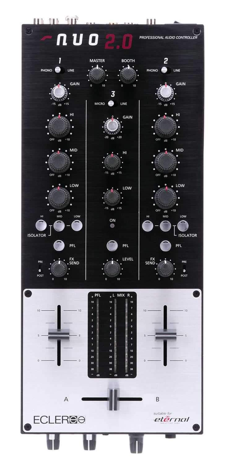 Ecler NUO 2.0 2 Channel DJ Mixer - PSSL ProSound and Stage Lighting