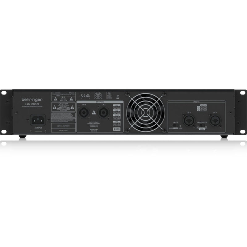 Behringer NX1000 Ultra-Lightweight 1000w Power Amplifier - PSSL ProSound and Stage Lighting