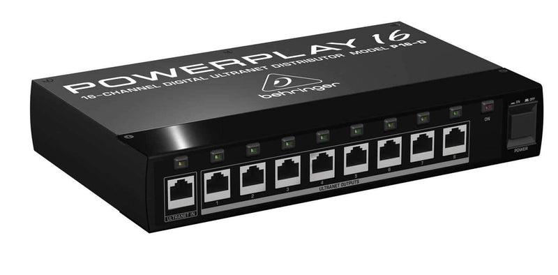 Behringer Powerplay 16 P16-D 16-Channel Digital Ultranet Distributor - PSSL ProSound and Stage Lighting