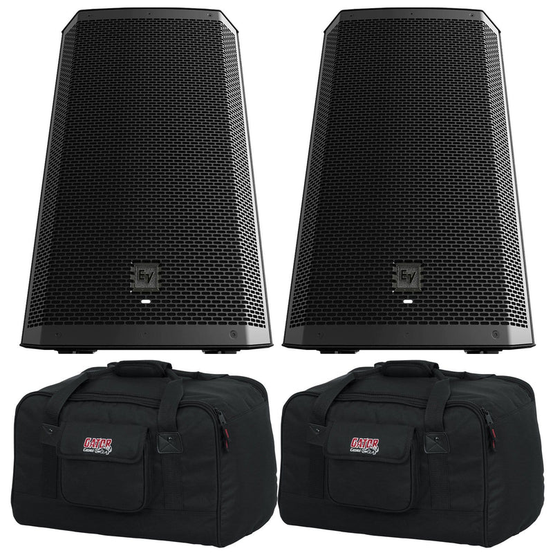 Electro-Voice ZLX-12BT 12-Inch Powered Speaker Pair with Gator Totes - PSSL ProSound and Stage Lighting