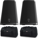 Electro-Voice ZLX-15BT 15-Inch Powered Speaker Pair with Gator Totes