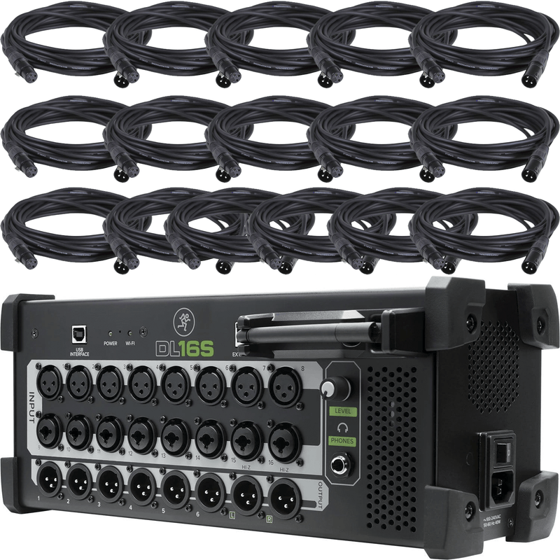 Mackie DL16S 16-Ch Digital Wireless Mixer with XLR Cables
