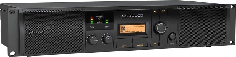 Behringer NX3000D 3000W Class-D Power Amplifier with Case - PSSL ProSound and Stage Lighting