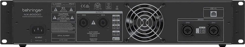 Behringer NX3000D 3000W Class-D Power Amplifier with Cables - PSSL ProSound and Stage Lighting