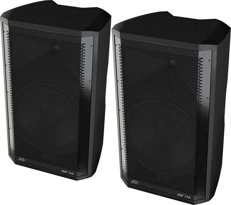 "Peavey DM112 Dark Matter 12"" Powered Speakers Pair - PSSL ProSound and Stage Lighting"