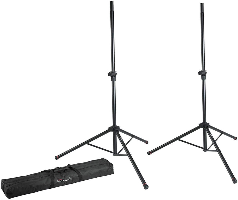 Mackie SRM450V3 12-Inch Powered Speakers (2) with Gator Stands - PSSL ProSound and Stage Lighting