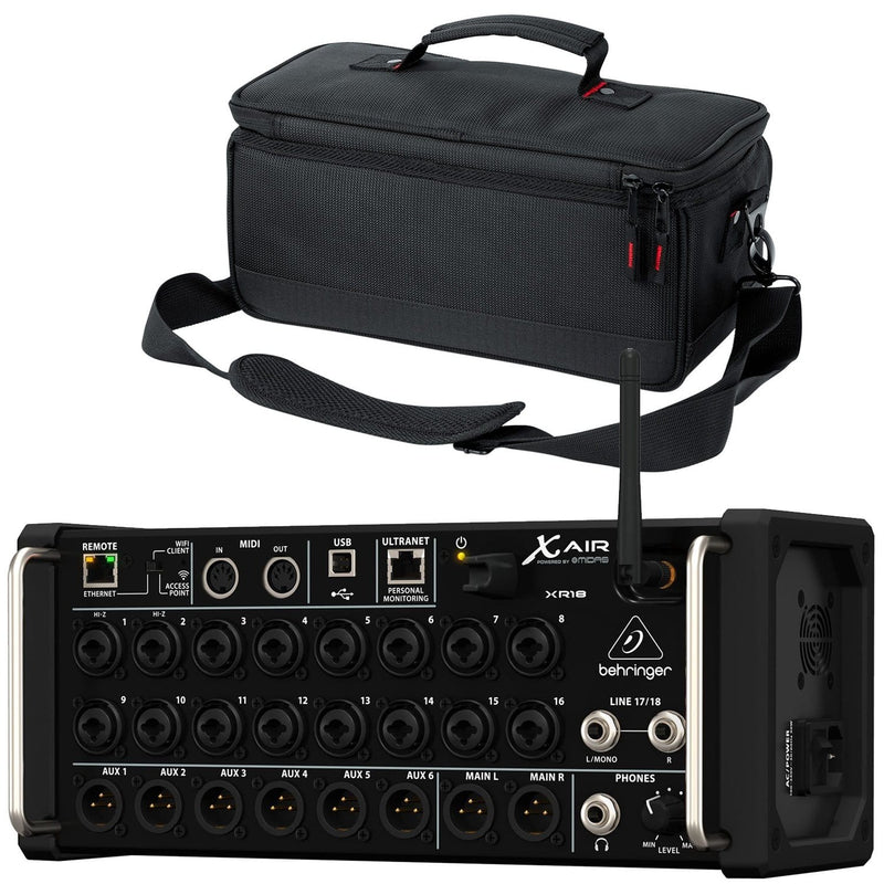 Behringer X Air XR18 18-Input Digital Mixer with Gator Bag - PSSL ProSound and Stage Lighting