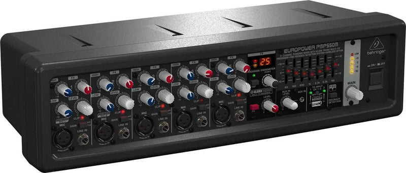 Behringer Europower PMP550M 5-Channel 500W Powered Mixer - PSSL ProSound and Stage Lighting
