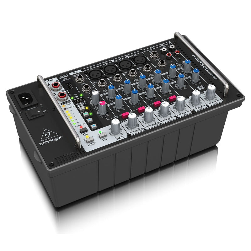 Behringer Europort PMP500MP3 Ultra-Compact 8-Channel Powered Mixer with MP3 Player - PSSL ProSound and Stage Lighting
