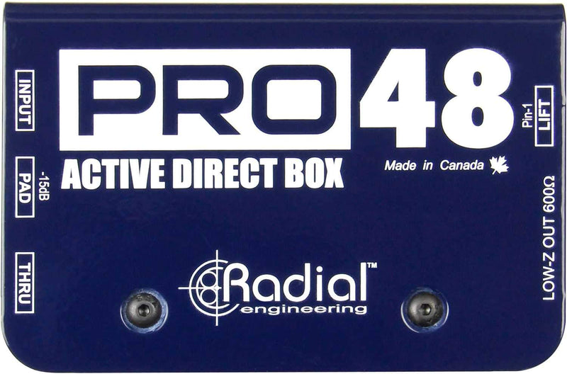Radial Pro48 48V Phantom Powered Active DI - PSSL ProSound and Stage Lighting
