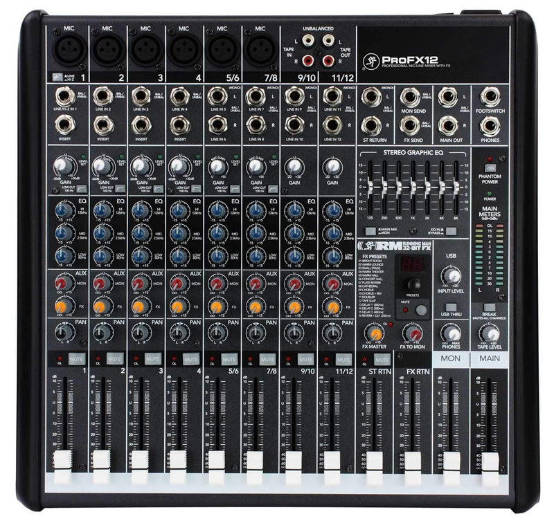 Mackie PROFX12 Compact 12 Ch PA Mixer with FX & USB - PSSL ProSound and Stage Lighting