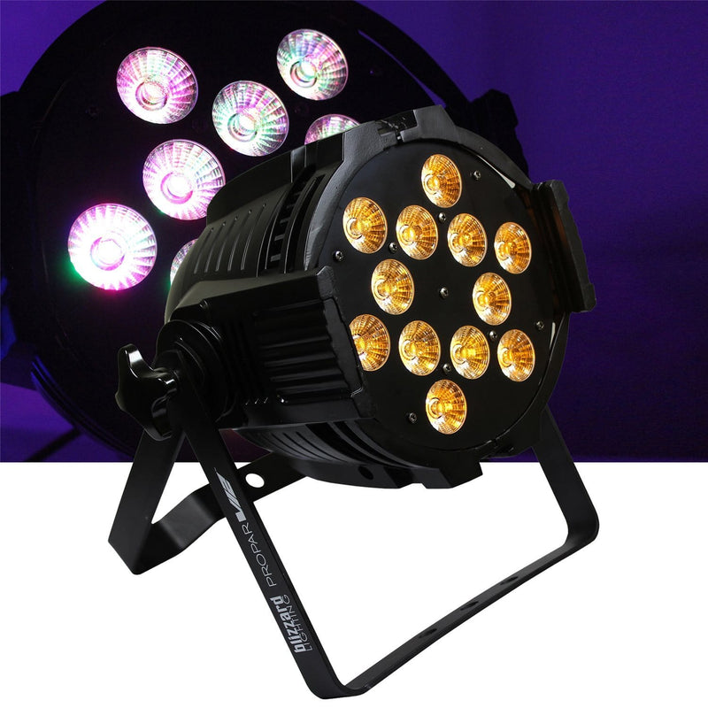 Blizzard ProPar V12 12x 15W RGBAW LED Wash Light - PSSL ProSound and Stage Lighting